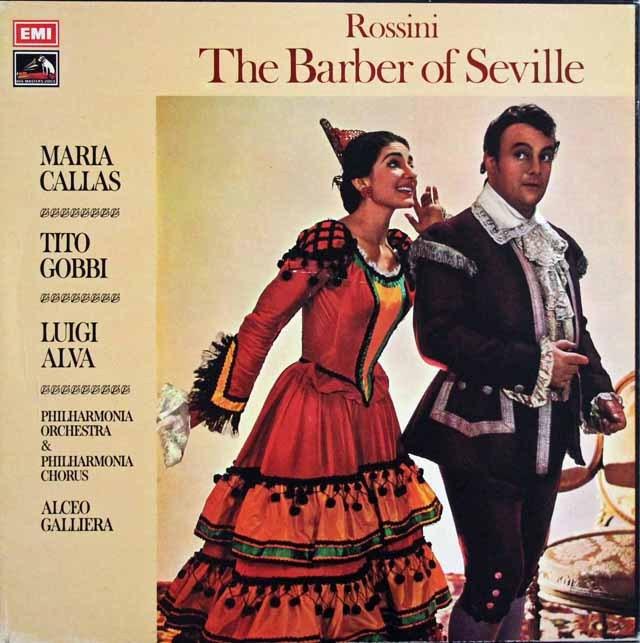カラス&ガリエラらのロッシーニ/「セビリアの理髪師」全曲 英EMI 3397 LP レコード