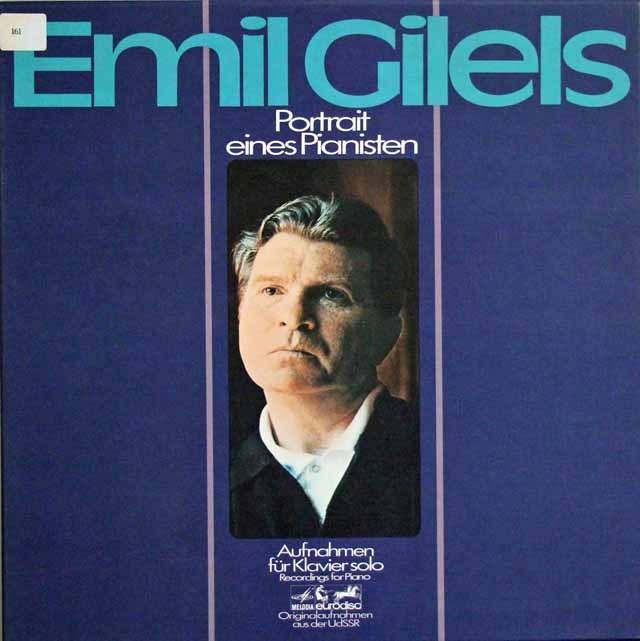 ギレリス/ピアノストの肖像 独eurodisc 2937 LP レコード