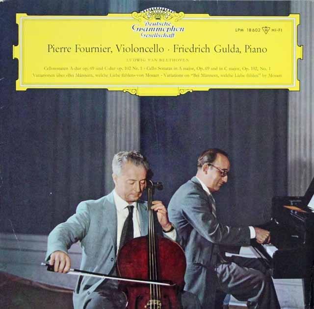 フルニエ&グルダのベートーヴェン/チェロソナタ第3&4番 独DGG 2938 LP レコード