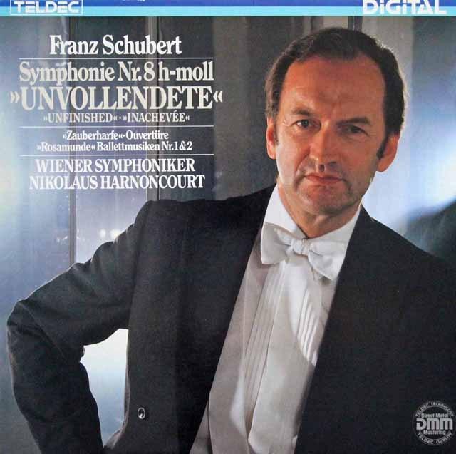 アーノンクールのシューベルト/「未完成」ほか  独TELDEC 2938 LP レコード