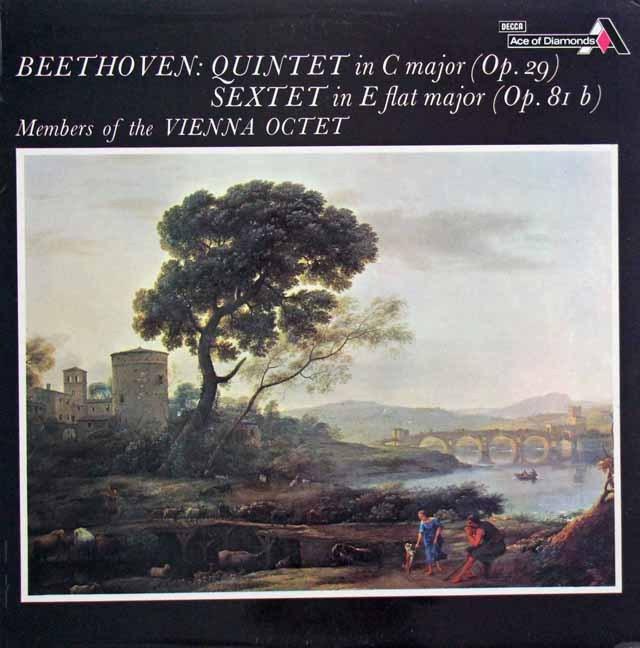 ウィーン・オクテットのベートーヴェン/五重奏曲&六重奏曲 英DECCA 3397 LP レコード