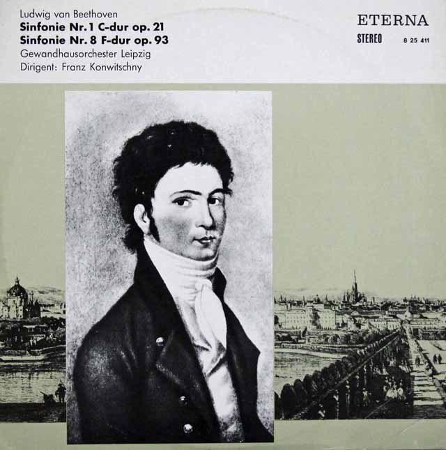コンヴィチュニーのベートーヴェン/交響曲第1&8番   独ETERNA 2938 LP レコード