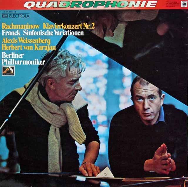 【独初版】ワイセンベルク&カラヤンのラフマニノフ/ピアノ協奏曲第2番ほか 独EMI 2939 LP レコード