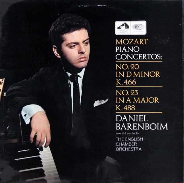バレンボイムのモーツァルト/ピアノ協奏曲第20&23番 英EMI 2939 LP レコード