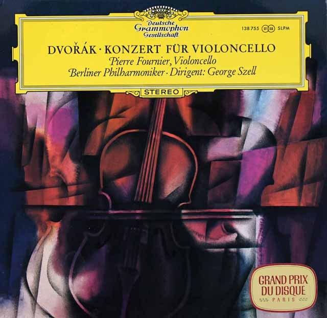 フルニエ&セルのドヴォルザーク/チェロ協奏曲 独DGG 2939 LP レコード
