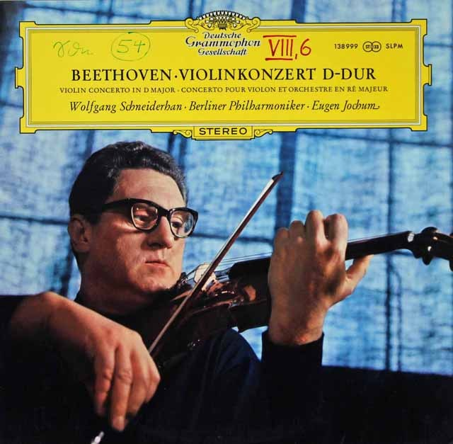 【特価】 シュナイダーハン&ヨッフムのベートーヴェン/ヴァイオリン協奏曲 独DGG 3397 LP レコード