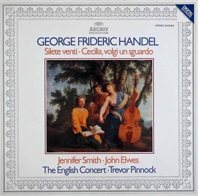 ピノックのヘンデル/「風よ静まれ」&「チェチーリアよ、眼差しを向けたまえ」 独ARCHIV 3397 LP レコード