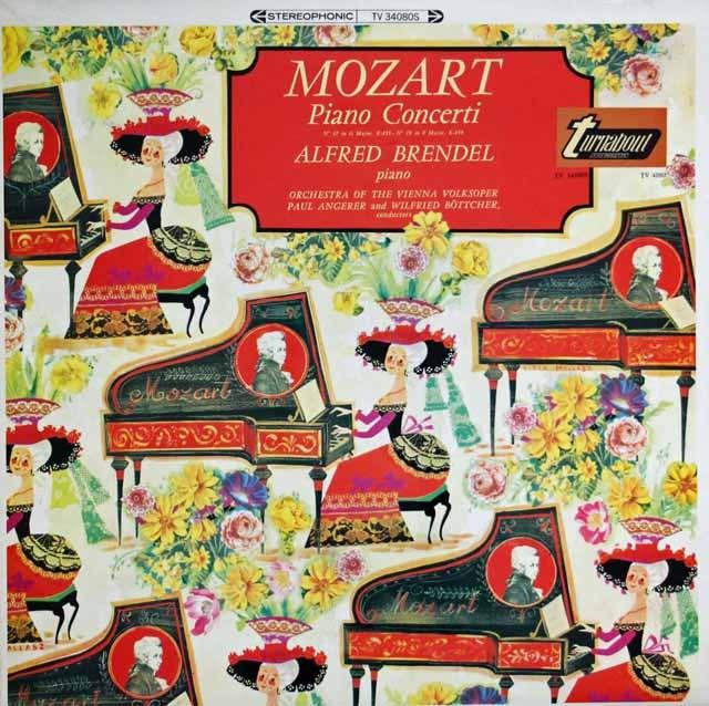 ブレンデルのモーツァルト/ピアノ協奏曲第17&19番  英turnabout 2939 LP レコード