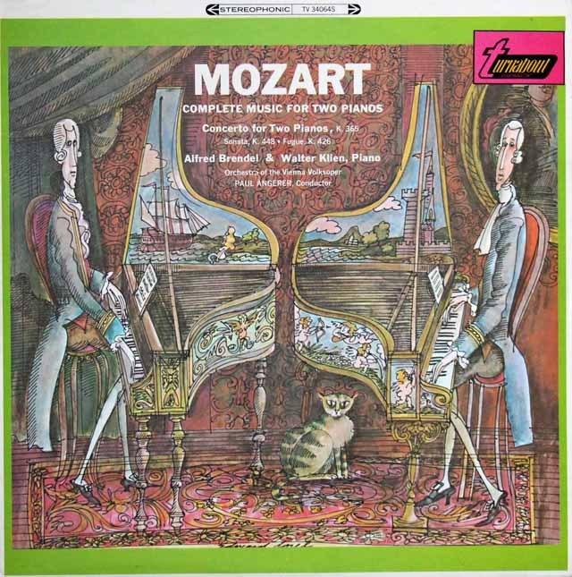 ブレンデル&クリーンのモーツァルト/2台のピアノのための協奏曲ほか  英turnabout 2939 LP レコード