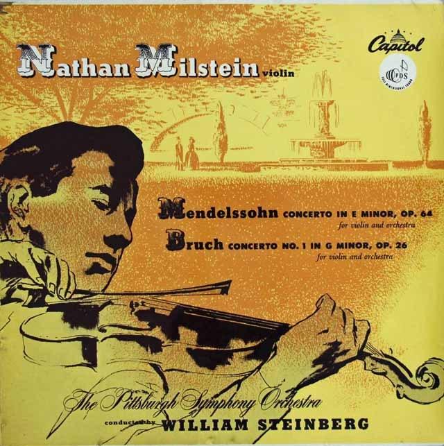 ミルシュタインのメンデルスゾーン&ブルッフ/ヴァイオリン協奏曲集  英Capitol 2939 LP レコード