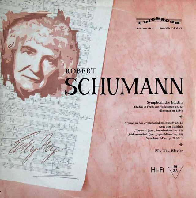 ナイのシューマン/「交響的練習曲」ほか  独colosseum 2939 LP レコード