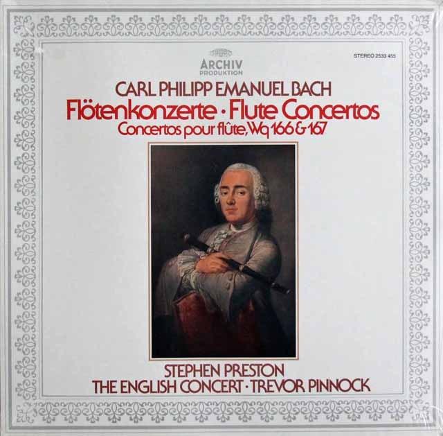 【未開封】 プレストン&ピノックのC.P.E.バッハ/フルート協奏曲 独ARCHIV 3397 LP レコード