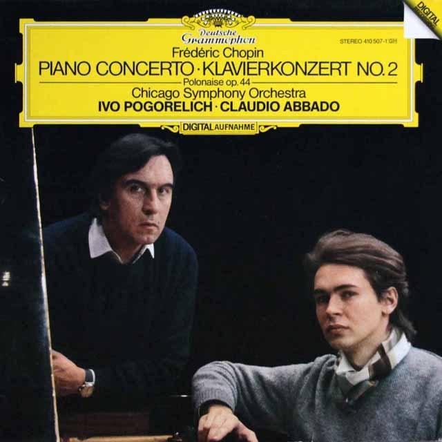 ポゴレリチ&アバドのショパン/ピアノ協奏曲第2番ほか 独DGG 2940 LP レコード
