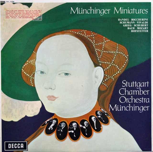 【テストプレス】ミュンヒンガーの管弦楽小品集 英DECCA 2940 LP レコード