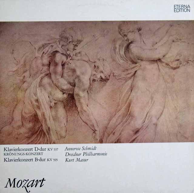 シュミット&マズアのモーツァルト/ピアノ協奏曲第26番「戴冠式」&27番 独ETERNA 2940 LP レコード