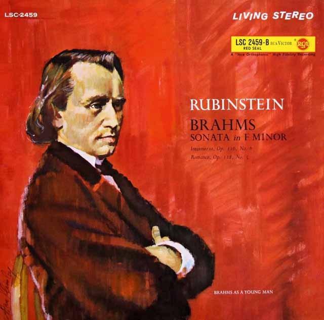 ルービンシュタインのブラームス/ピアノソナタ第3番ほか 独RCA 2940 LP レコード