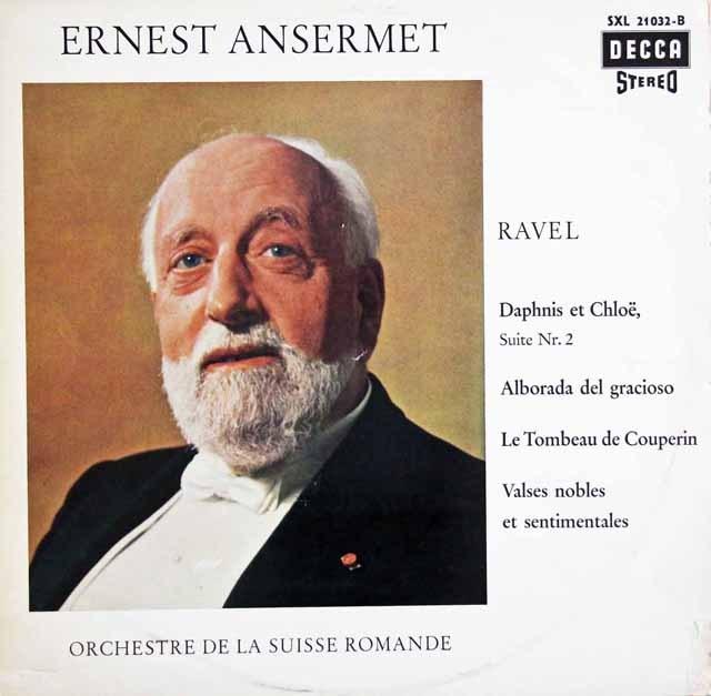 アンセルメのラヴェル/バレエ「ダフニスとクロエ」第2組曲 独DECCA 3397 LP レコード
