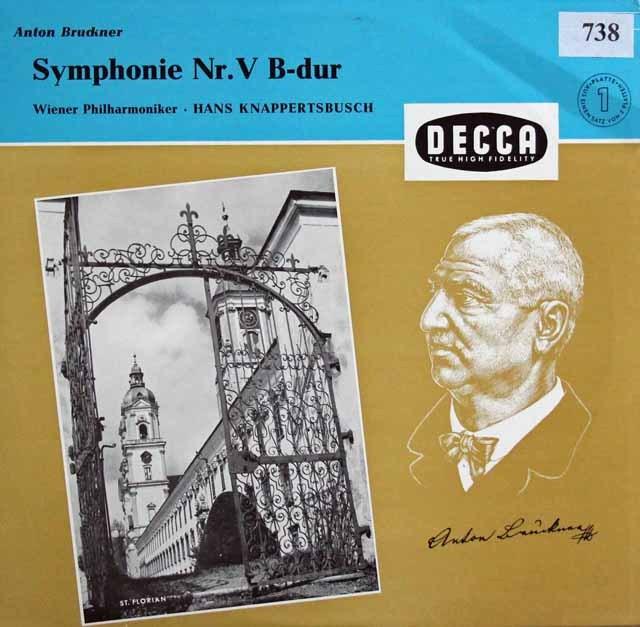 クナッパーツブッシュのブルックナー/交響曲第5番 独DECCA 2940 LP レコード