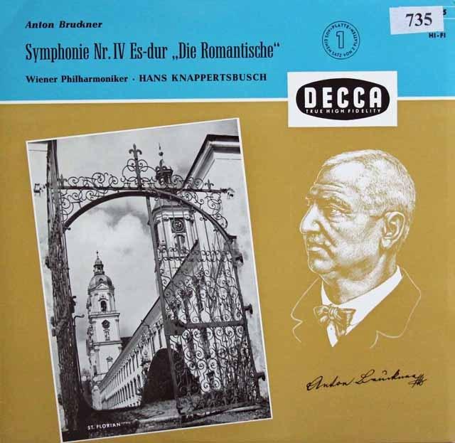 クナッパーツブッシュのブルックナー/交響曲第4番「ロマンティック」 独DECCA 2940 LP レコード