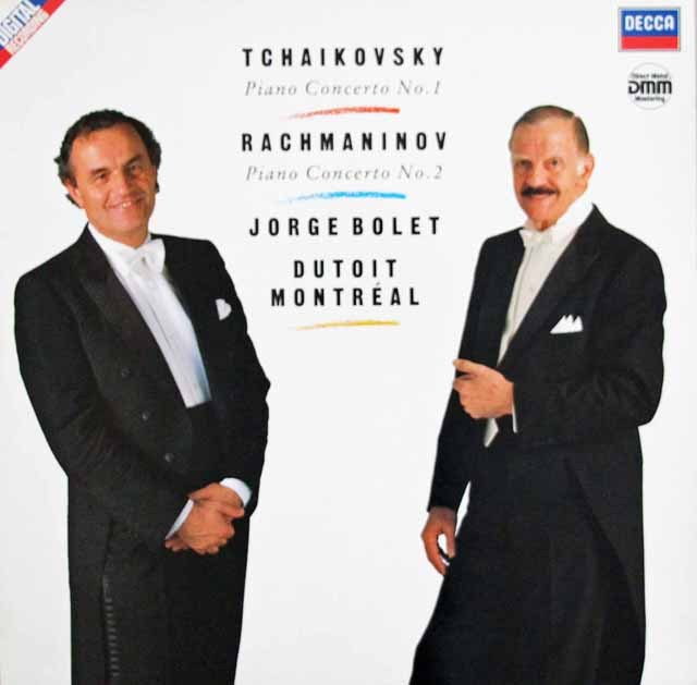 ボレット&デュトワのチャイコフスキー&ラフマニノフ/ピアノ協奏曲集  独DECCA 2940 LP レコード