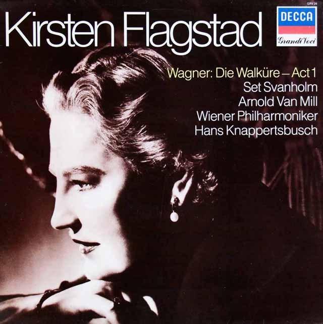 フラグスタート&クナッパーツブッシュのワーグナー/「ワルキューレ」第1幕  英DECCA 2940 LP レコード
