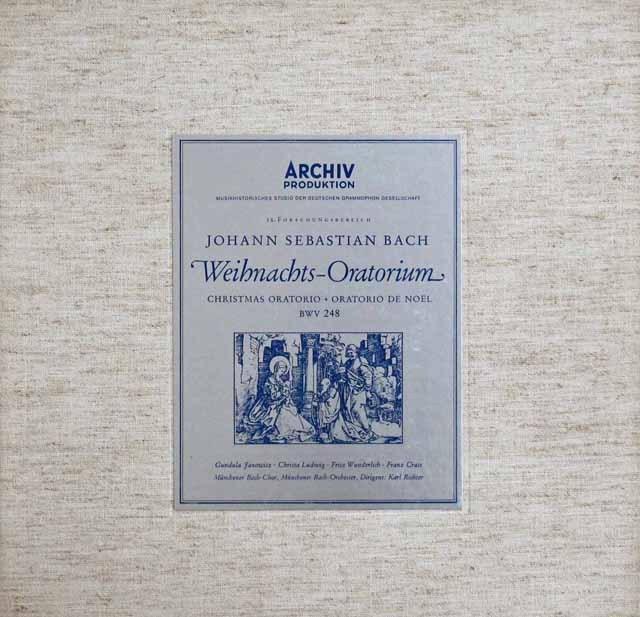 【オリジナル盤】リヒターのバッハ/クリスマス・オラトリオ   独ARCHIV 2940 LP レコード