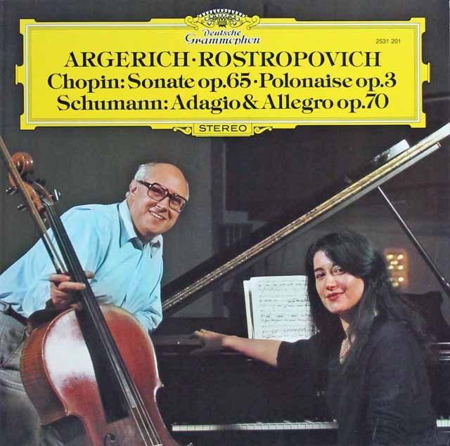 アルゲリッチ&ロストロポーヴィチのショパン/チェロソナタほか 独DGG 2940 LP レコード
