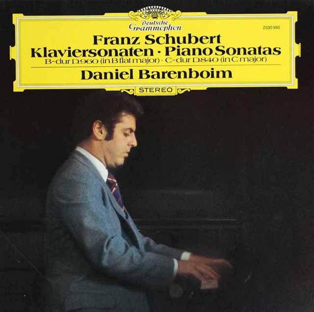バレンボイムのシューベルト/ピアノソナタ第15番「レリーク」&第21番 独DGG 2940 LP レコード