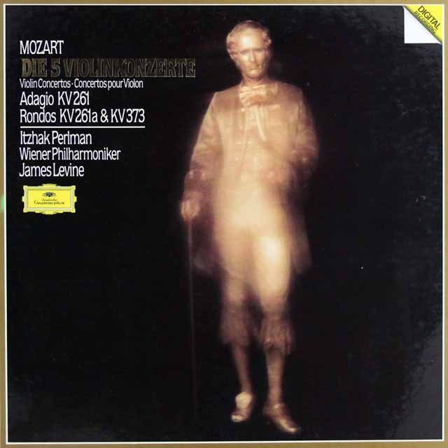 パールマン&レヴァインのモーツァルト/ヴァイオリン協奏曲集 独DGG 2940 LP レコード