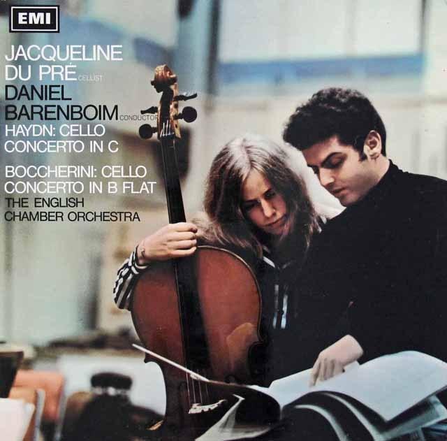 デュ・プレのハイドン&ボッケリーニ/チェロ協奏曲 英EMI 2941 LP レコード