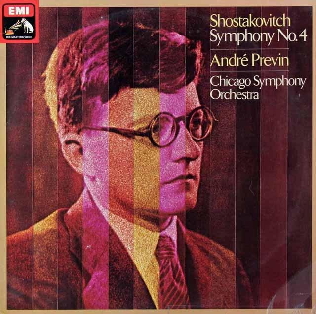 【オリジナル盤】プレヴィンのショスタコーヴィチ/交響曲第4番 英EMI 2941 LP レコード