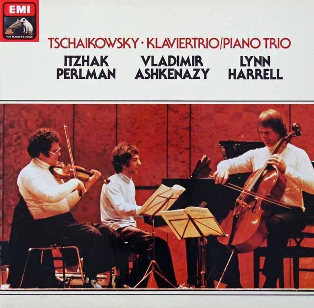パールマン、アシュケナージ&ハレルのチャイコフスキー/ピアノ三重奏曲「偉大な芸術家の思い出に」 独EMI 2941 LP レコード