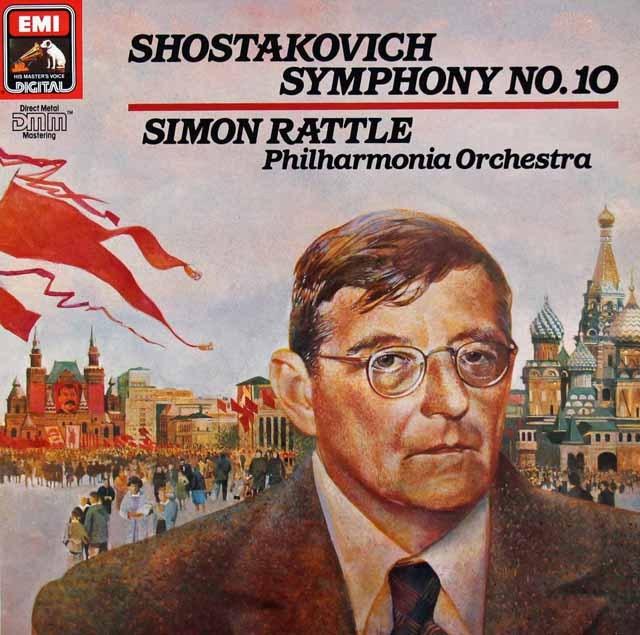 ラトルのショスタコーヴィチ/交響曲第10番 独EMI 2941 LP レコード