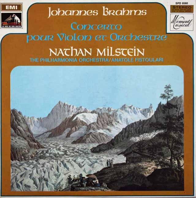 ミルシュタインのブラームス/ヴァイオリン協奏曲 仏EMI(VSM) 2941 LP レコード
