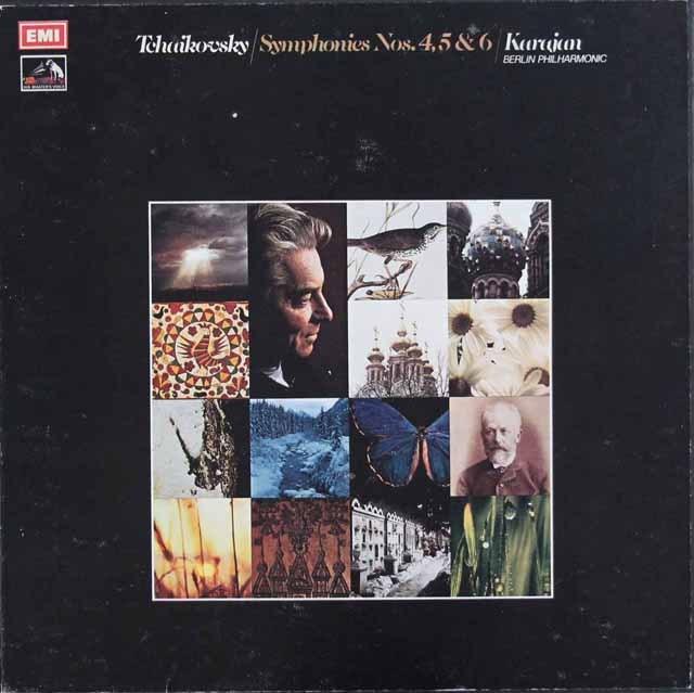 カラヤンのチャイコフスキー/交響曲第4,5&6番 英EMI 2941 LP レコード