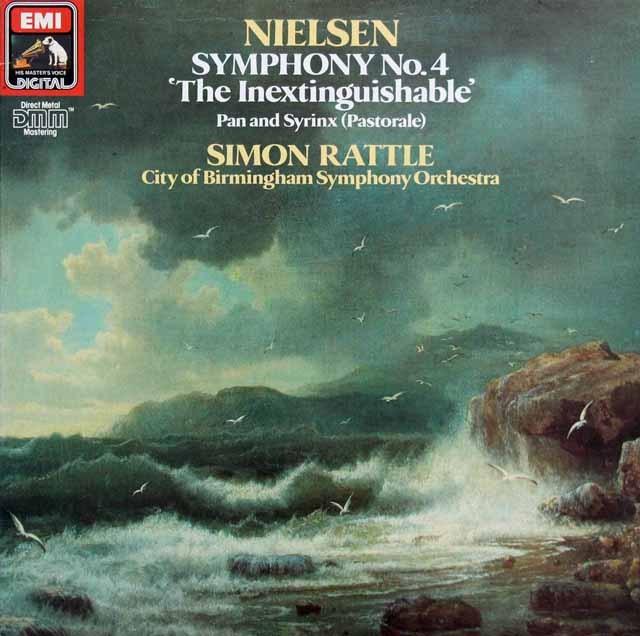 ラトルのニールセン/交響曲第4番「不滅」ほか  英EMI 2942 LP レコード