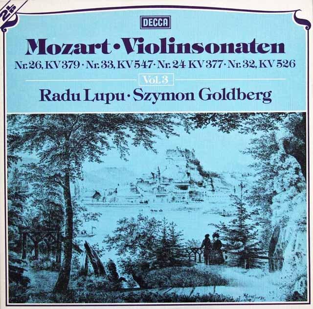 ルプー&ゴールドベルクのモーツァルト/ヴァイオリンソナタ集 vol.3  独DECCA 2942 LP レコード