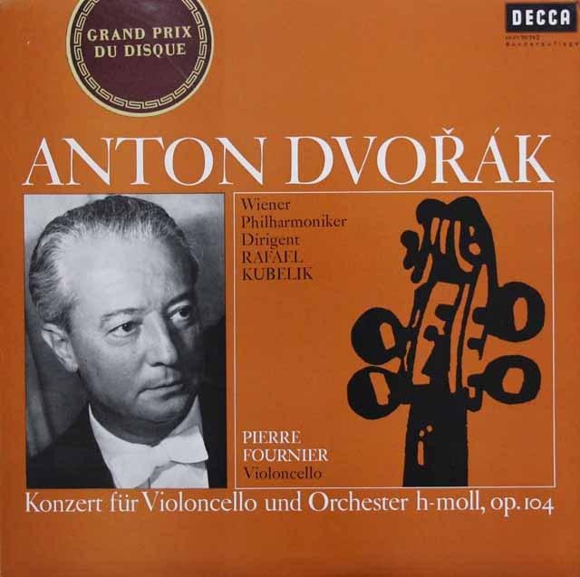 フルニエ&クーベリックのドヴォルザーク/チェロ協奏曲  独DECCA 2942 LP レコード