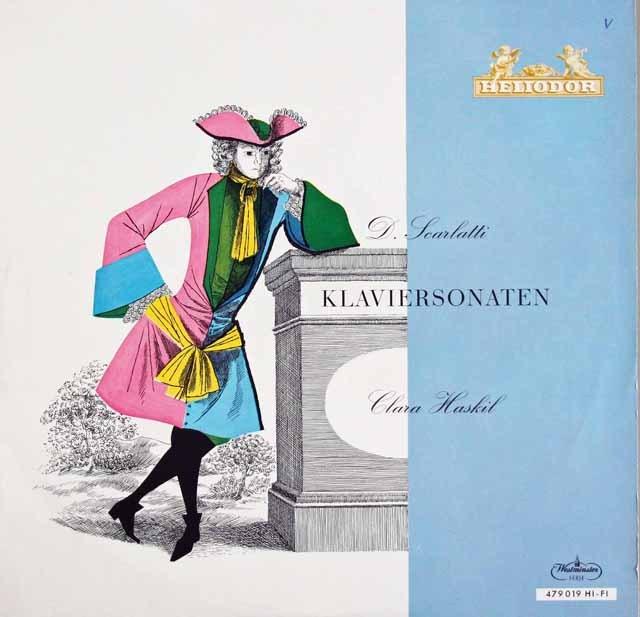 ハスキルのスカルラッティ/ピアノソナタ集  英HELIODOR 2943 LP レコード