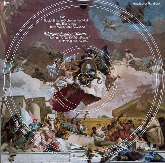 インバルのモーツァルト/交響曲第38番「プラハ」&第40番  独HR 2943 LP レコード