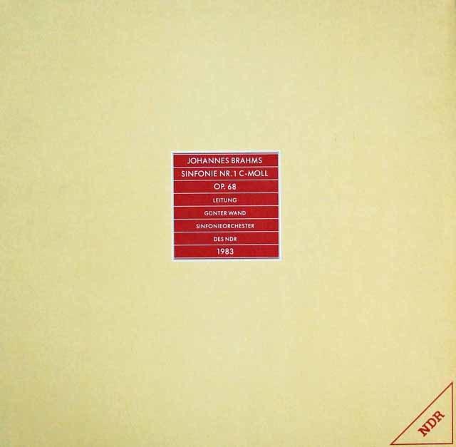 【限定盤】ヴァントのブラームス/交響曲第1番  独NDR 2943 LP レコード