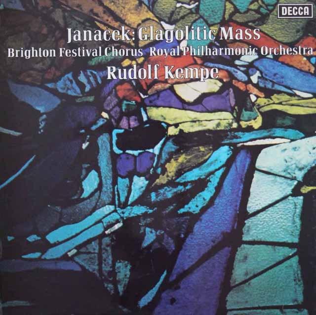 ケンペのヤナーチェク/「グラゴル・ミサ」 英DECCA 3396 LP レコード