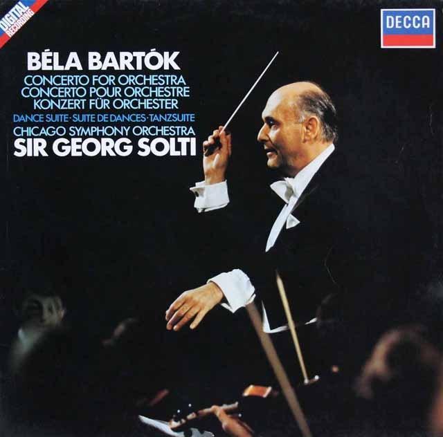 ショルティのバルトーク/「管弦楽のための協奏曲」ほか 独DECCA 3396 LP レコード