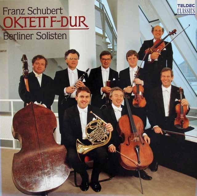 ベルリン・フィル・ゾリステンのシューベルト/八重奏曲 独TELDEC 3396 LP レコード