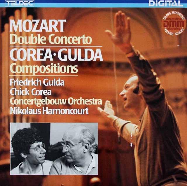 グルダ、コリア&アーノンクールらのモーツァルト/2台のピアノのための協奏曲ほか  独TELDEC 2943 LP レコード