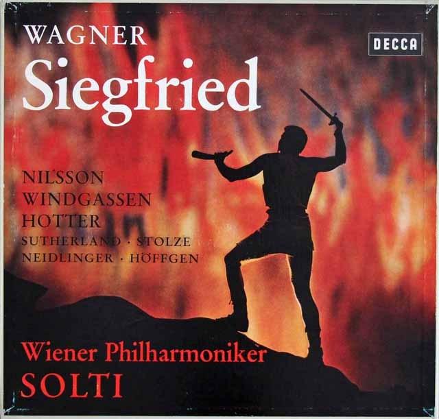 【モノラル盤】ショルティのワーグナー/「ジークフリート」  独DECCA 2943 LP レコード