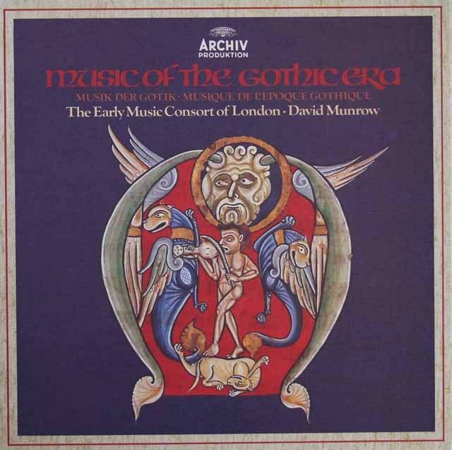 マンロウ&ロンドン古楽コンソートの「ゴシック期の音楽」 独ARCHIV 3396 LP レコード