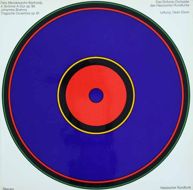 ディクソンのメンデルスゾーン/交響曲第4番「イタリア」ほか 独HR 3396 LP レコード