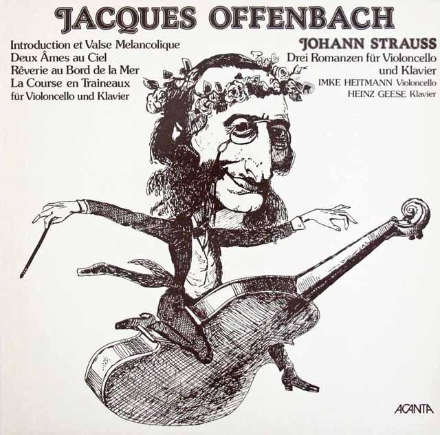 ハイトマン&ゲーゼのオッフェンバック&J.シュトラウス2世/チェロ作品集 独ACANTA 3396 LP レコード