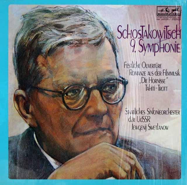 スヴェトラーノフのショスタコーヴィチ/交響曲第9番 独eurodisc 3396 LP レコード